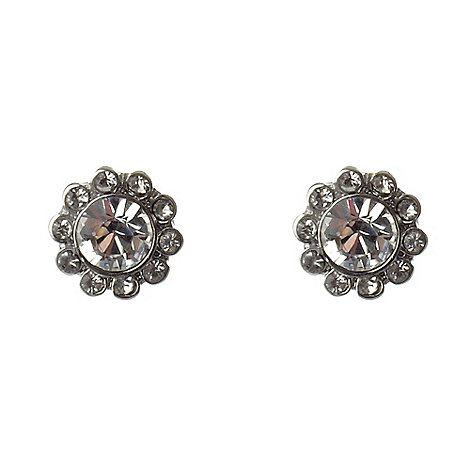 Martine Wester - Silver paved stone border earrings