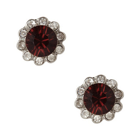 Martine Wester - Dark red paved stone border earrings