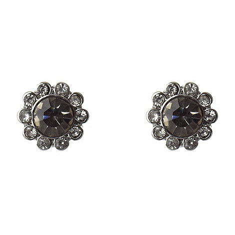 Martine Wester - Dark grey paved stone border earrings