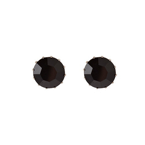 Martine Wester - Dark grey stone earrings