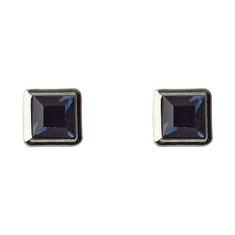 Martine Wester - Light sapphire square stone earrings