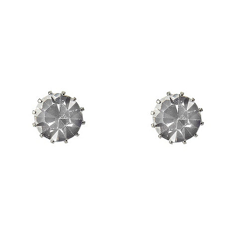 Martine Wester - Silver large stone earrings
