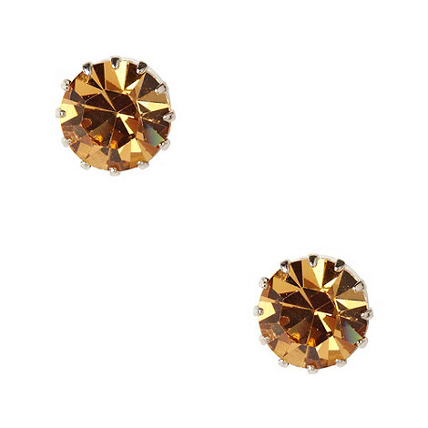 Martine Wester - Light gold large stone earrings