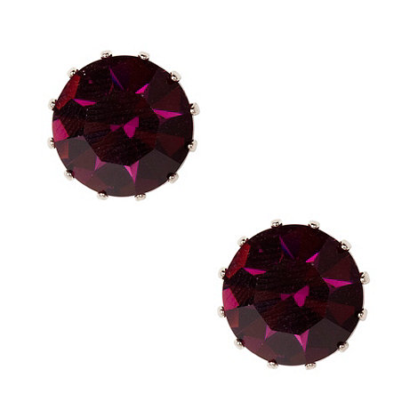 Martine Wester - Amethyst large stone earrings