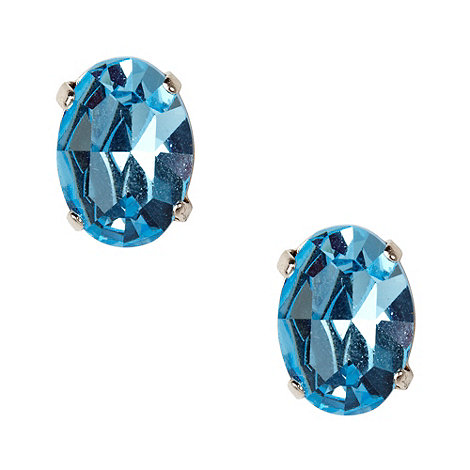 Martine Wester - Light sapphire oval stone earrings
