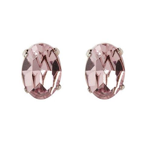 Martine Wester - Light amethyst oval stone earrings