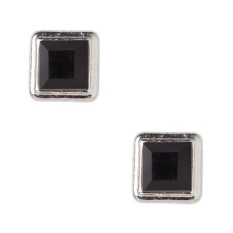 Martine Wester - Jet square stone earrings