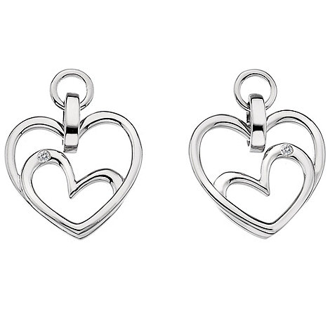 Hot Diamonds - Forever heart due drop earrings