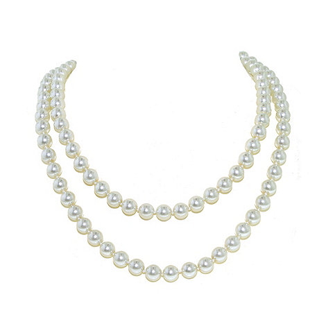 Finesse - Long white pearl necklace