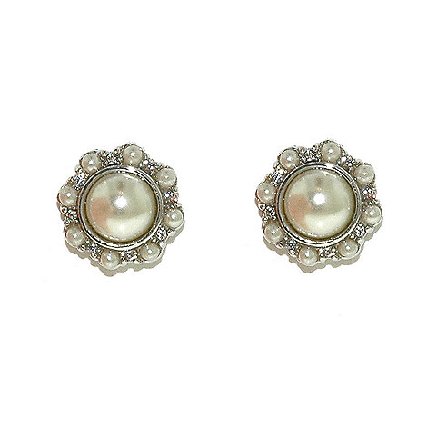 Finesse - White pearl cluster earring