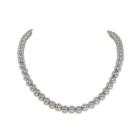 Finesse - Single strand soft grey pearl necklace