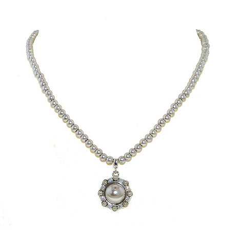 Finesse - Soft grey pearl cluster pendant