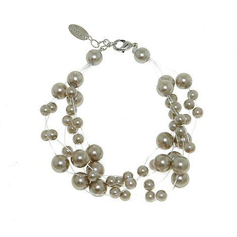 Finesse - Soft grey pearl illusion bracelet