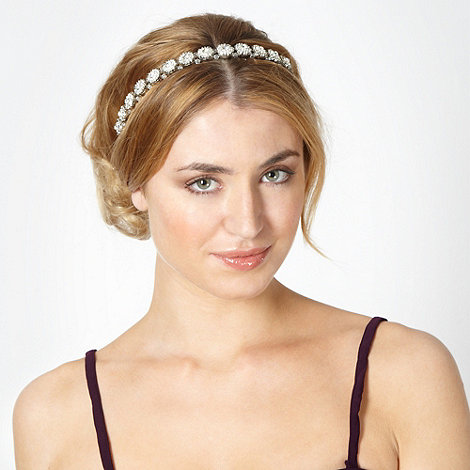No. 1 Jenny Packham - Designer embellished cluster black headband