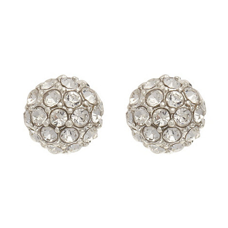 The Collection - Silver fireball stud earrings