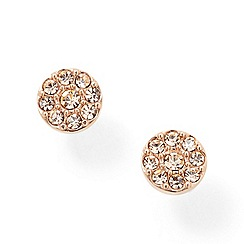 Fossil - Rose gold-tone 'Vintage Glitz' crystal cluster earrings
