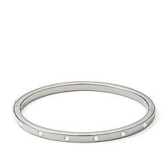 Fossil - Silver-tone 'Vintage Glitz' crystal stud bangle