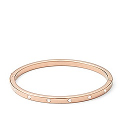 Fossil - Rose gold-tone 'Vintage Glitz' crystal stud bangle