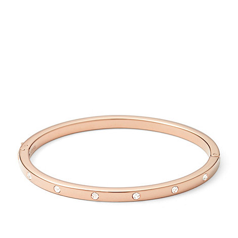 Fossil - Rose gold-tone +Vintage Glitz+ crystal stud bangle