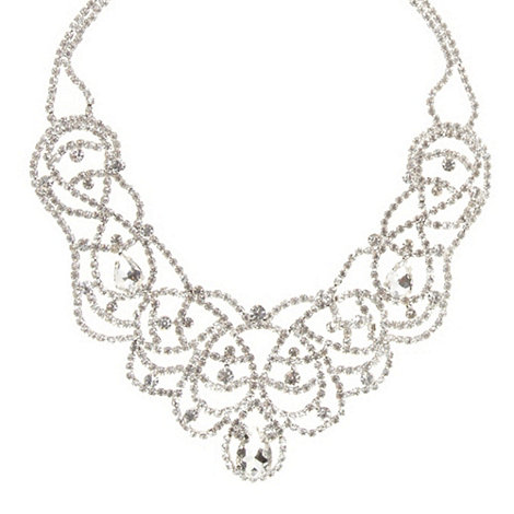 No. 1 Jenny Packham - Designer silver diamante plaited necklace