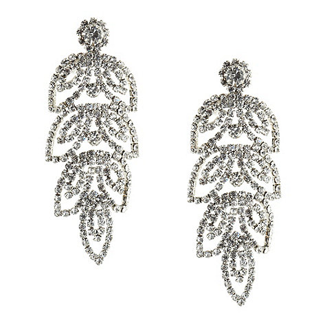 No. 1 Jenny Packham - Designer silver leaf chandelier earrings