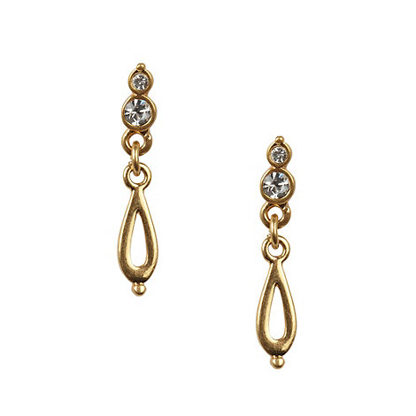Pilgrim - Gold teardrop earrings