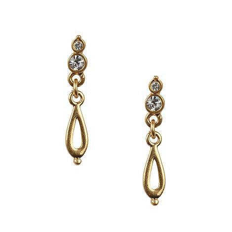 Pilgrim - Gold teardrop earrings