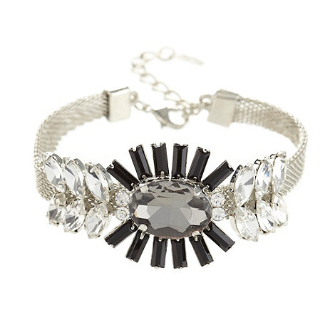 The Collection - Silver aztec jewel mesh bracelet