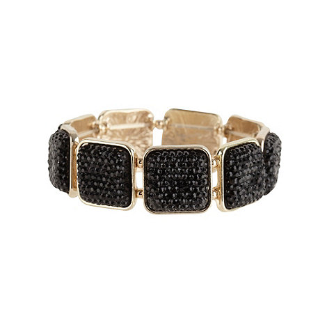 The Collection - Black embellished square bracelet