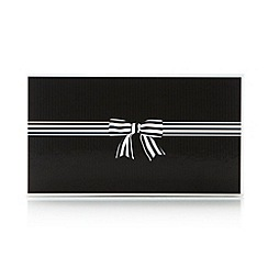 The Collection - Black striped bow gift box