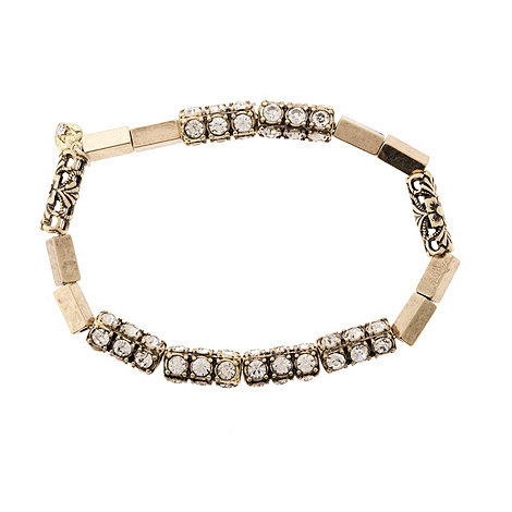 null - Stargazer crystal beaded stretch bracelet
