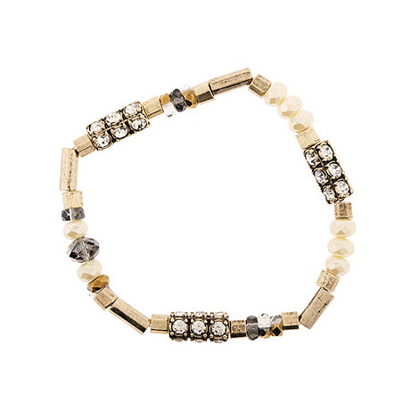 Martine Wester - Stargazer pearl and crystal stretch bracelet