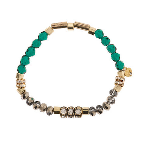 Martine Wester - Cosmic emerald beaded stretch bracelet