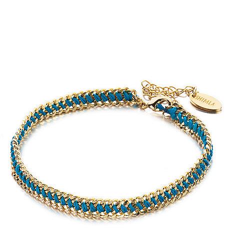 Shimla - Gold turquoise weave bracelet