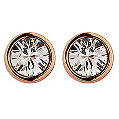 Dyrberg Kern - Rose gold 'Noble' stud earrings