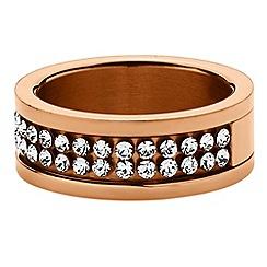 Dyrberg Kern - Rose gold 'Fratienne' large ring
