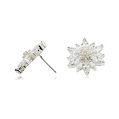 Van Peterson 925 - Silver flower earrings