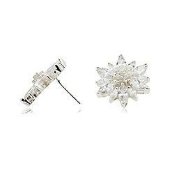 Van Peterson 925 - Silver flower earrings