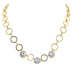 Finesse - Gold & crystal hoop necklace