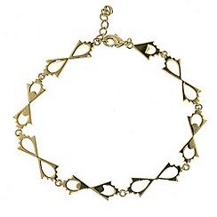 Finesse - Gold & cubic zirconia arrow link bracelet