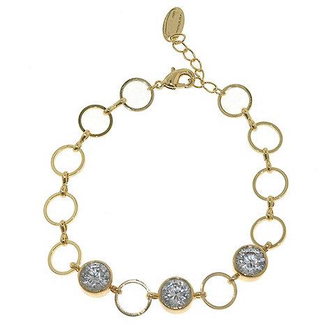 Finesse - Gold & crystal hoop bracelet