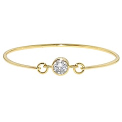 Finesse - Gold & crystal link bangle