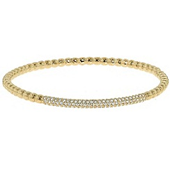 Finesse - Gold & swarovski crystal bobbled bangle