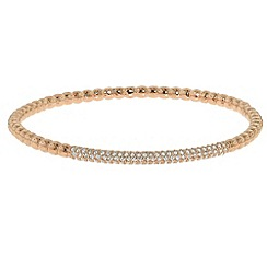 Finesse - Rose gold & swarovski crystal bobbled bangle