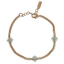 Finesse - Rose gold, rhodium & swarovski crystal station chain bracelet