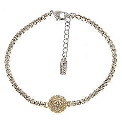 Finesse - Rhodium & gold swarovski crystal pave ball bracelet