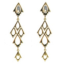 Finesse - Gold & opal crystal arrowhead chandelier earrings