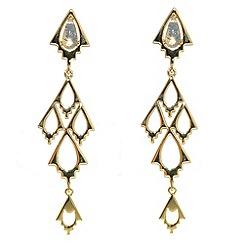 Finesse - Gold & opal crystal arrowhead chandelier earrings