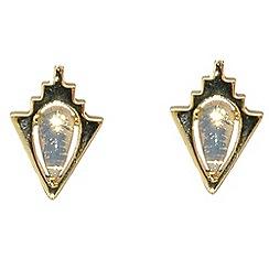 Finesse - Gold & opal crystal arrowhead stud earrings
