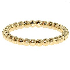Finesse - Gold bobbled stacking ring